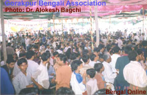 BA Puja Crowd